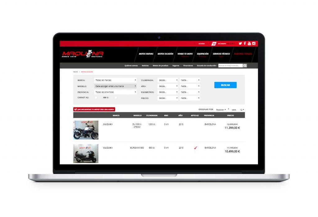 Maquina Motors, tienda online Omitsis